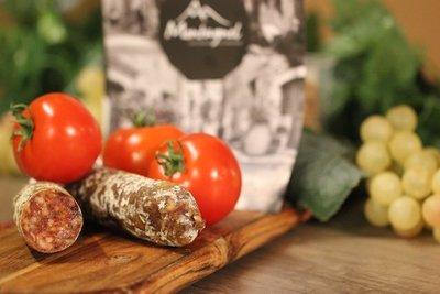 Franse worst. Gedroogde tomaten (Frankrijk)